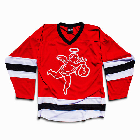 Get Money Angel Hockey Jersey -Red