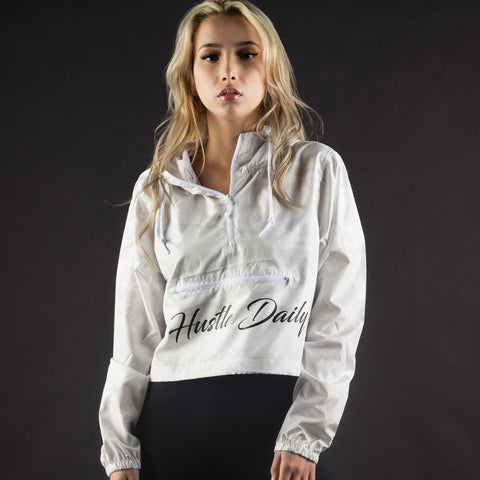 HUSTLE DAILY CROP WINDBREAKER