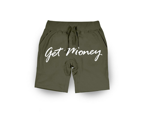 Get Money Shorts - OLIVE
