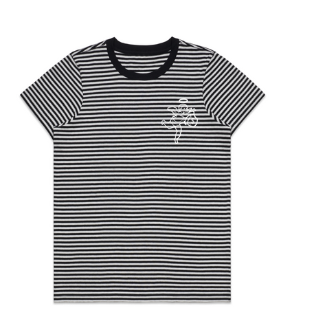 Angel Logo Stripe Tee -Womens