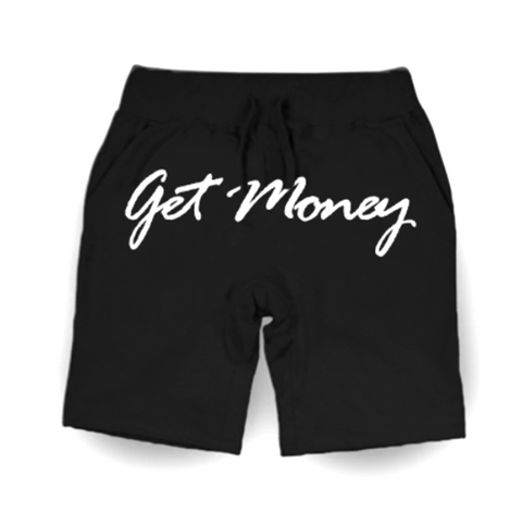 Get Money Script Shorts - BLACK