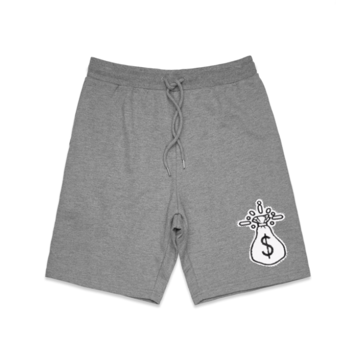 Chenille Money Bag Patch Shorts