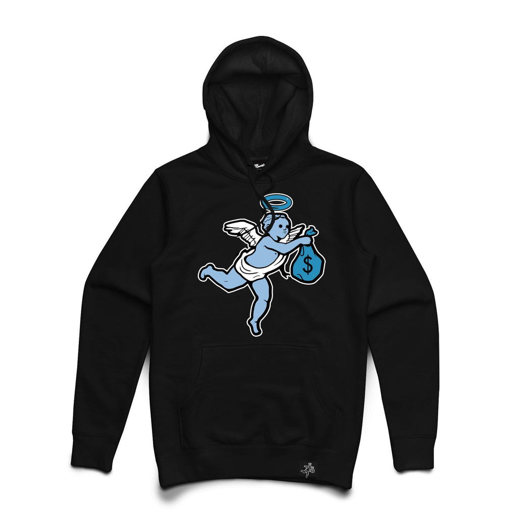 AJ1 Get Money Angel Chenille Uni Hoodie Big and Tall