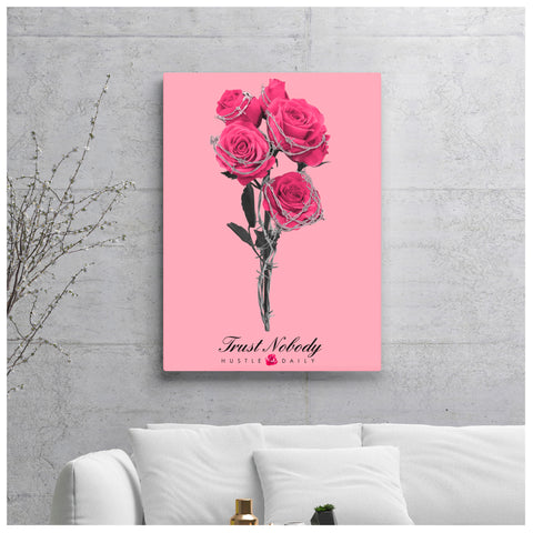 Barbed Rose Canvas Poster