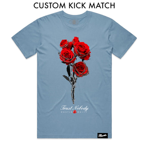 Barbed Roses - Custom Shoe Match (Carolina Blue)