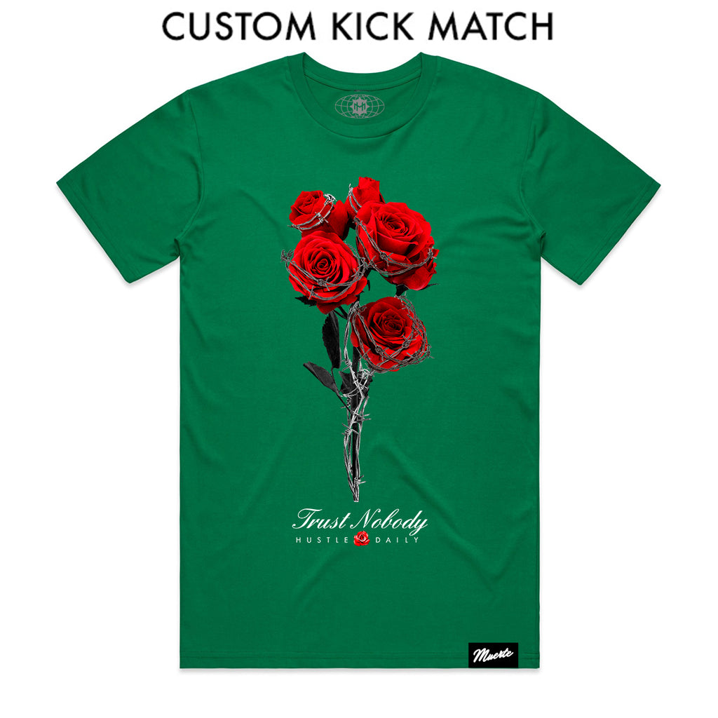 Barbed Roses - Custom Shoe Match (Kelly Green)