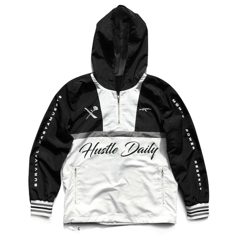 AK Survival x Hustle Daily Windbreaker - Black