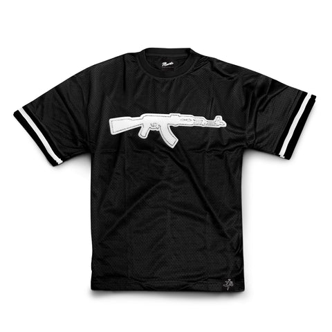 Black Chenille Patch AK Jersey