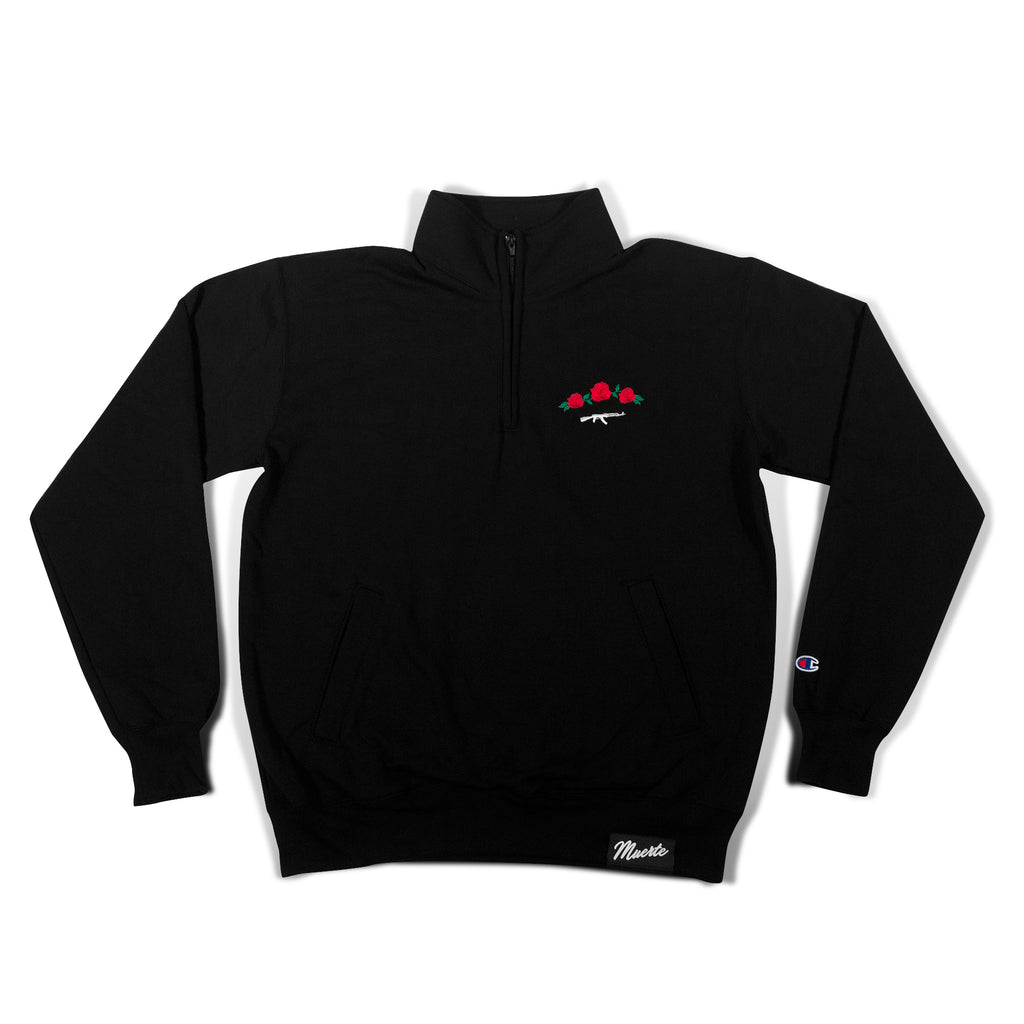 Rose Seal Black Quarter Zip