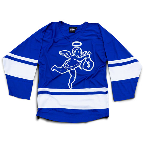 Get Money Angel Hockey Jersey - Royal