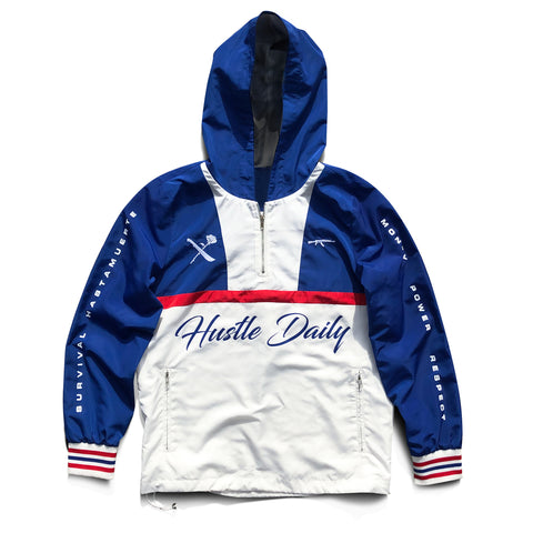 AK Survival x Hustle Daily Windbreaker - Royal