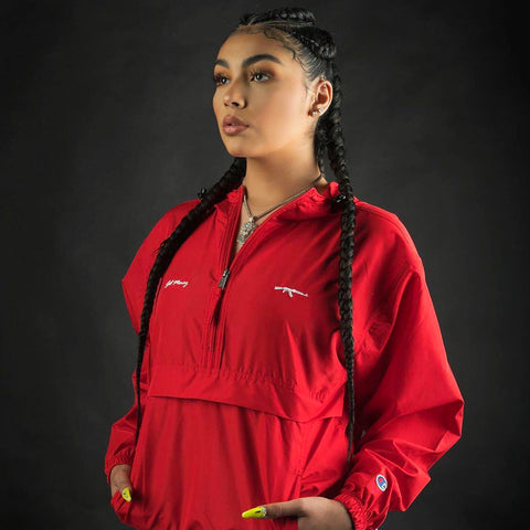 Get Money AK Logo Champion Anorak - Red