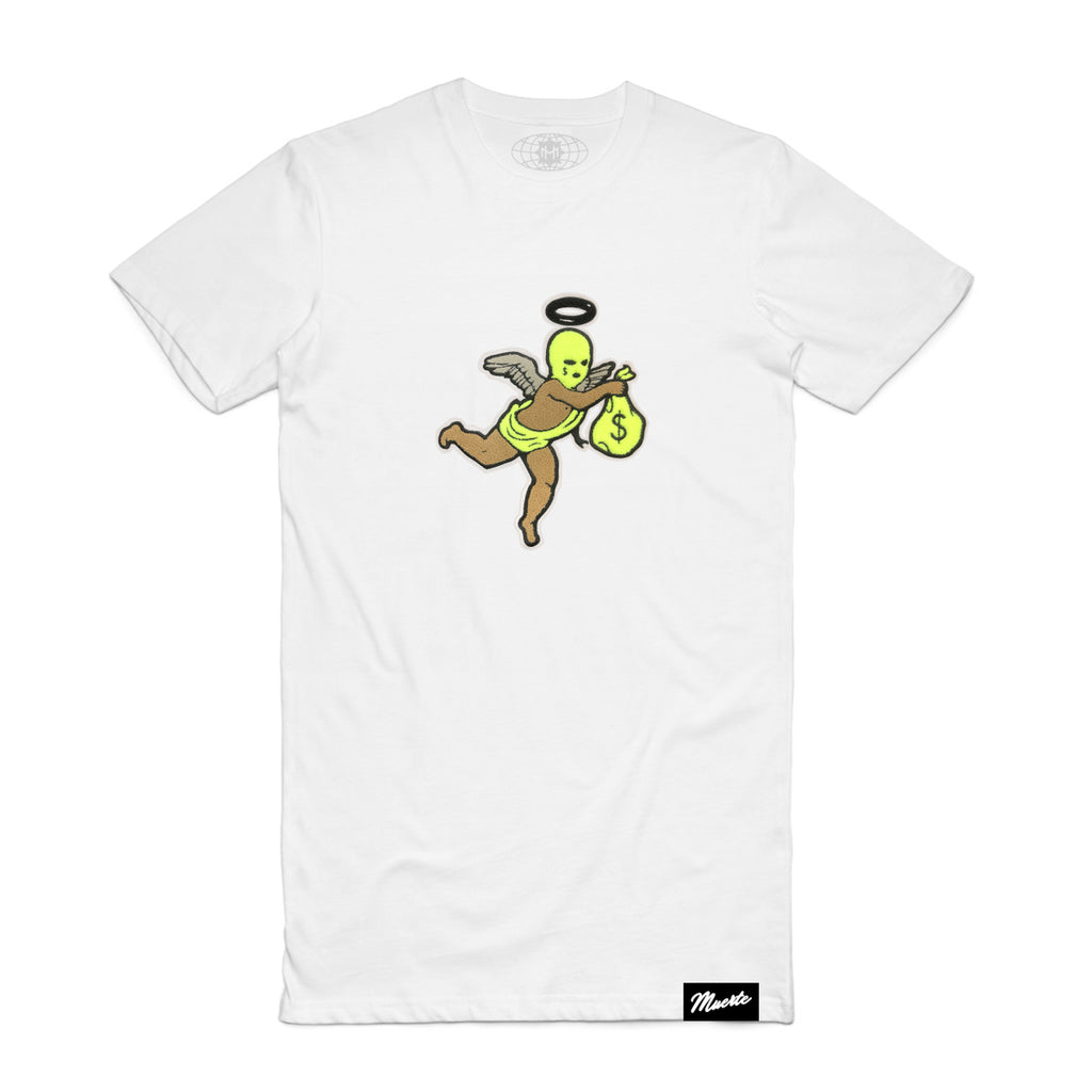 Neon Get Money Ski Mask Angel Chenille Patch Tee