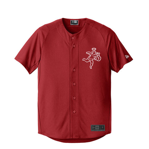 Get Money Angel New Era Jersey- Crimson