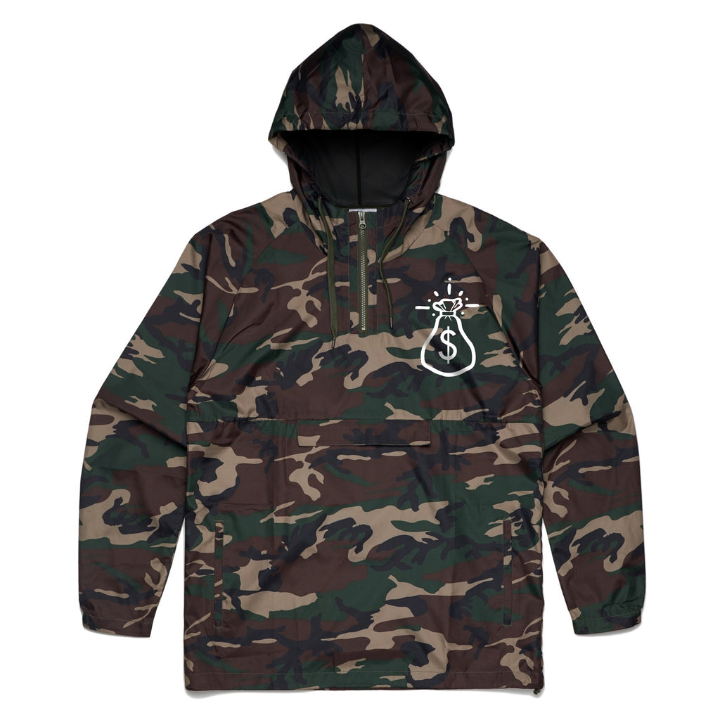 Money Bag Logo Pull over Windbreaker