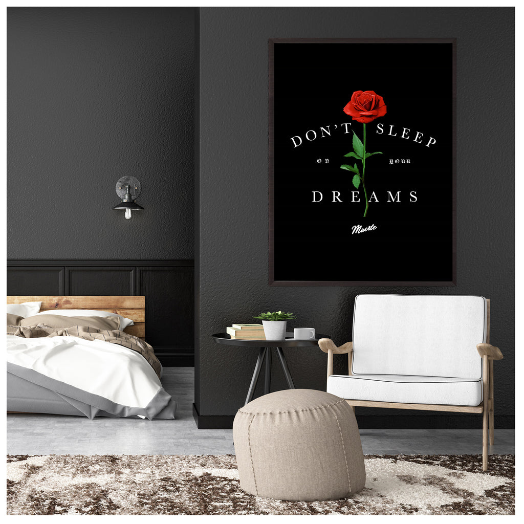 Don't Sleep On Your Dreams Canvas Poster
