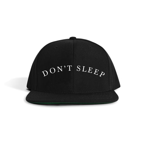 Don't Sleep Snapback- black
