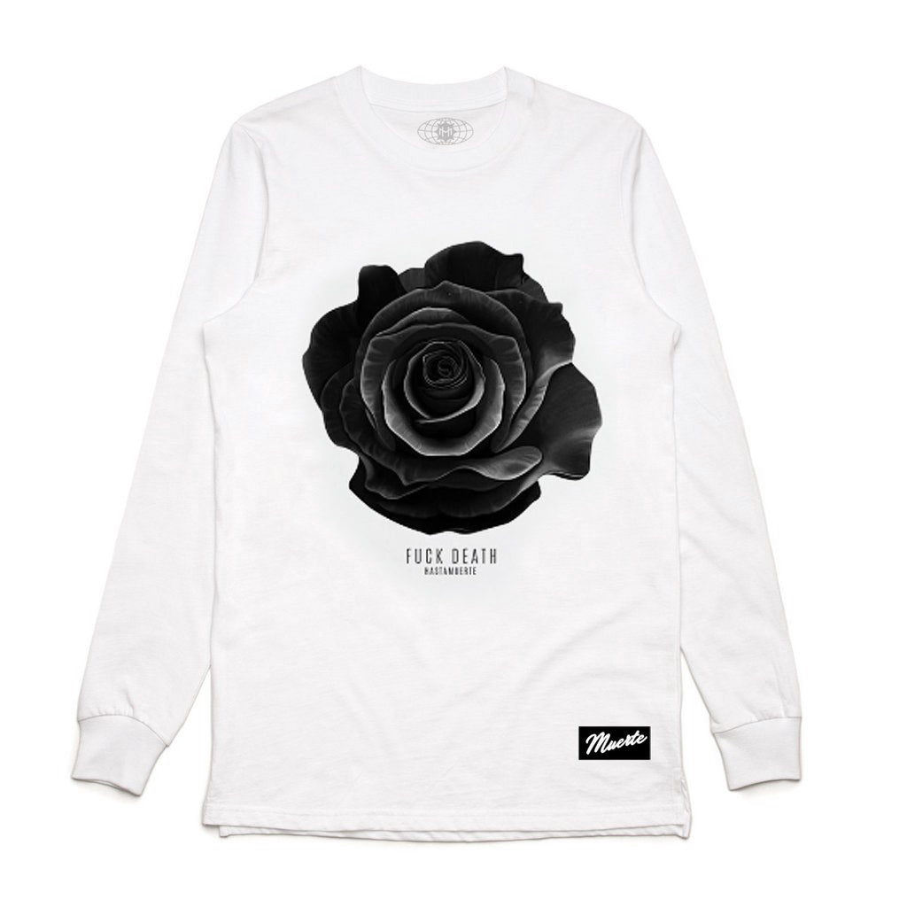 F Death Rose LS White
