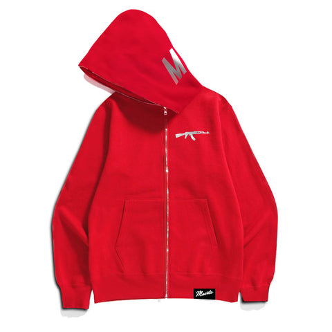 Red Muerte AK Full-Zip Up Hoodie