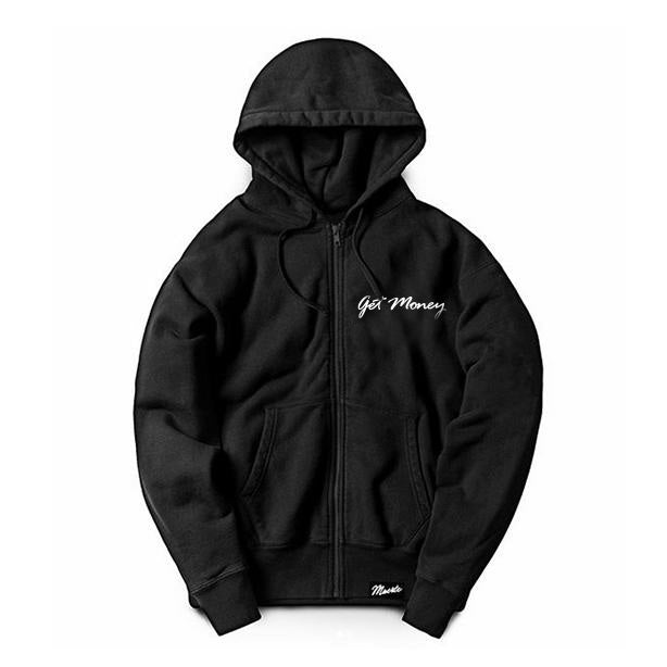 Get Money Script Logo Zip-Up Hoodie