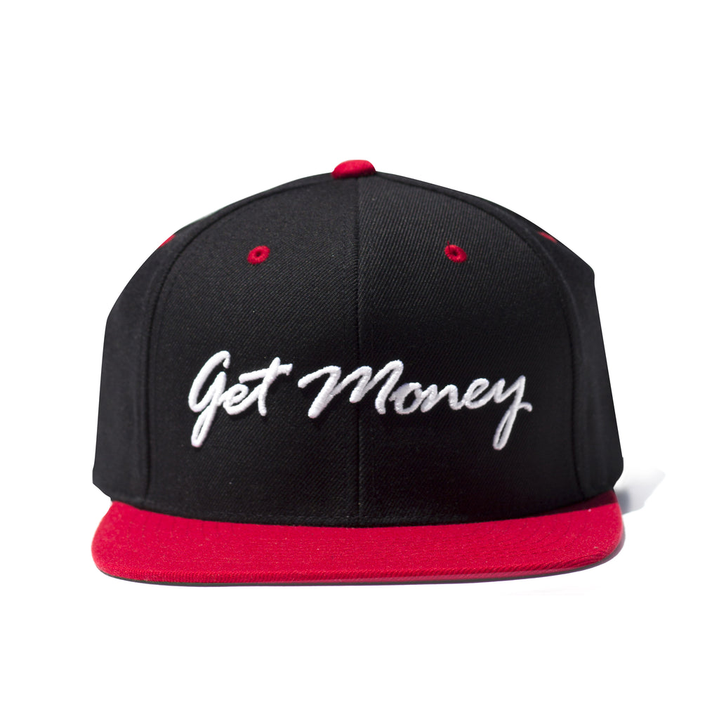 Get Money Rose Snapback- Black/Red