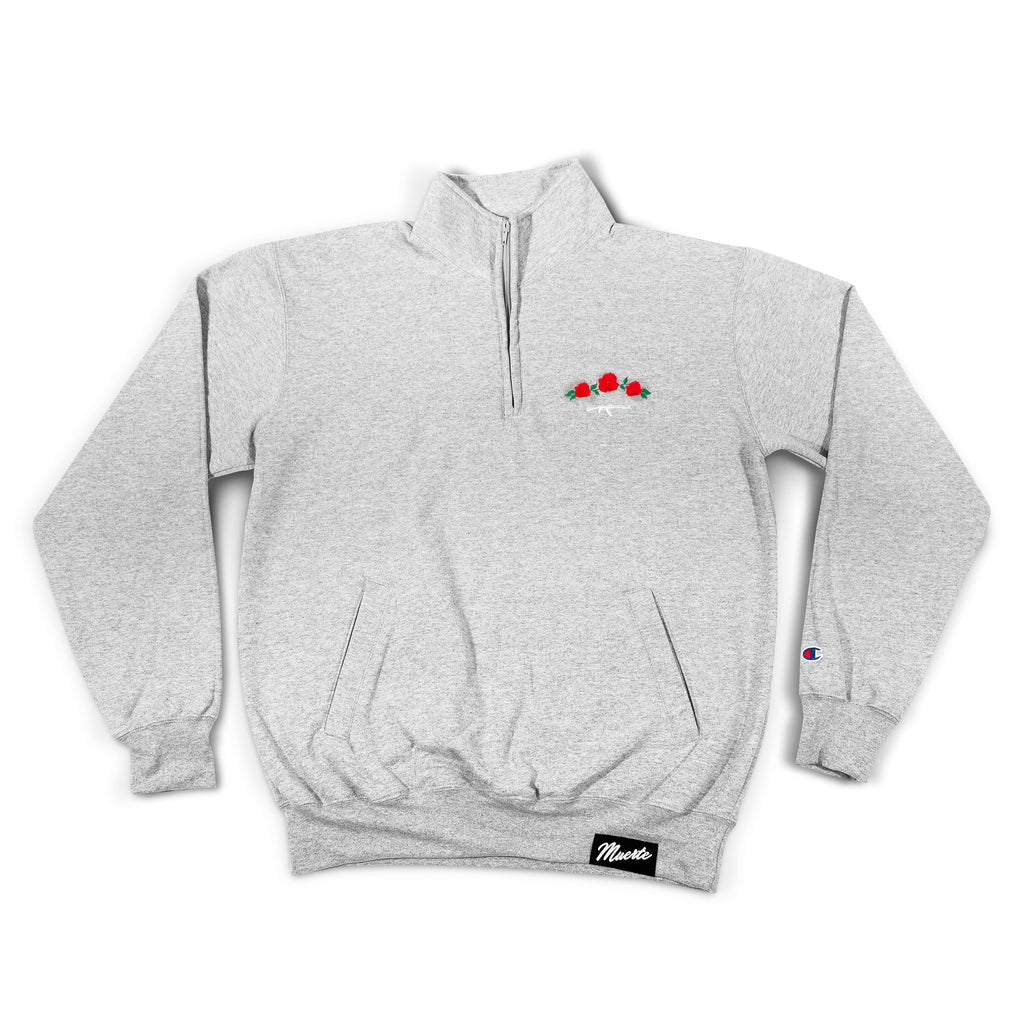 Rose Seal Gray Quarter Zip