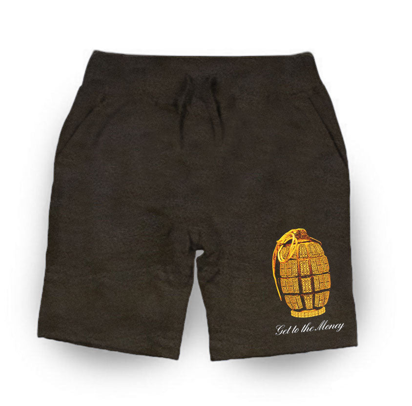 Get To The Money Grenade Shorts - CHARCOAL