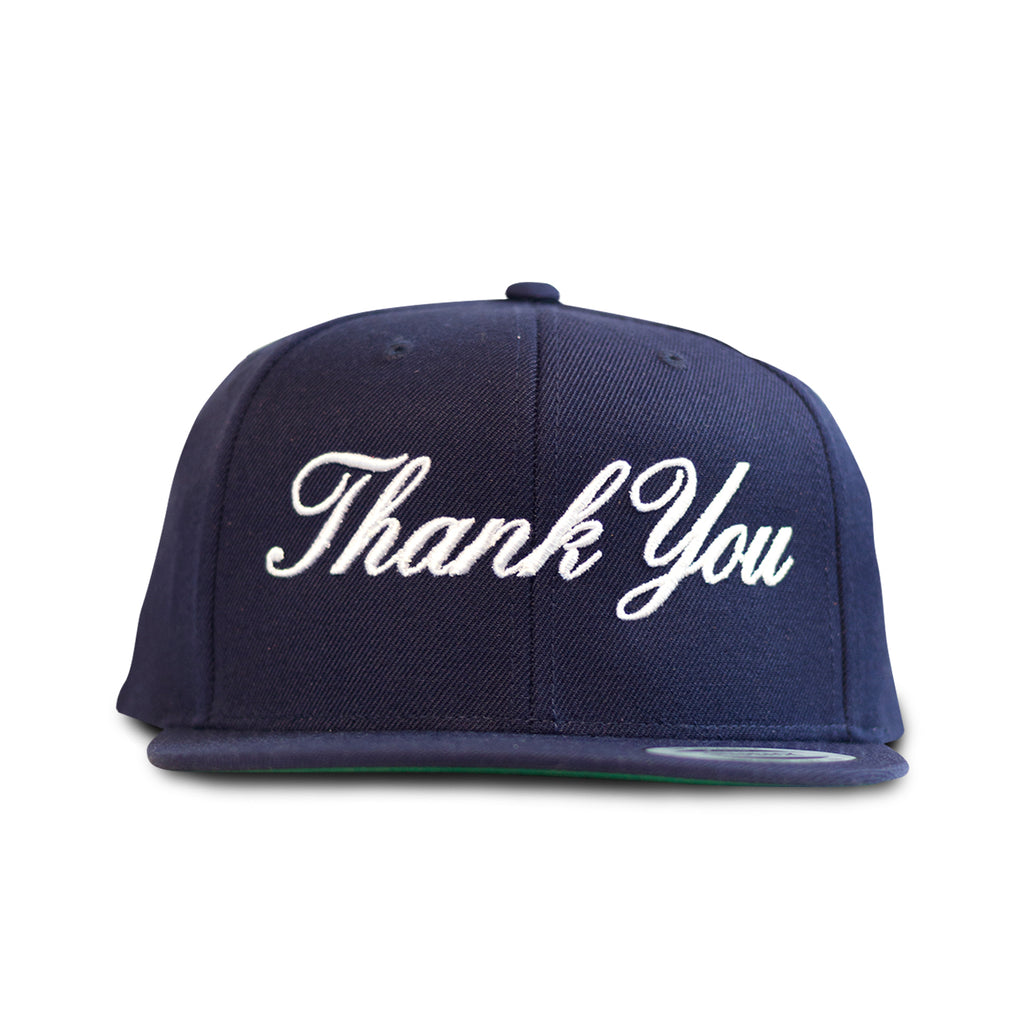 Thank You Snapback- Navy