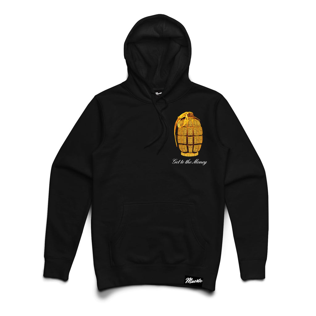Get To The Money Grenade Hoodie Big and Tall