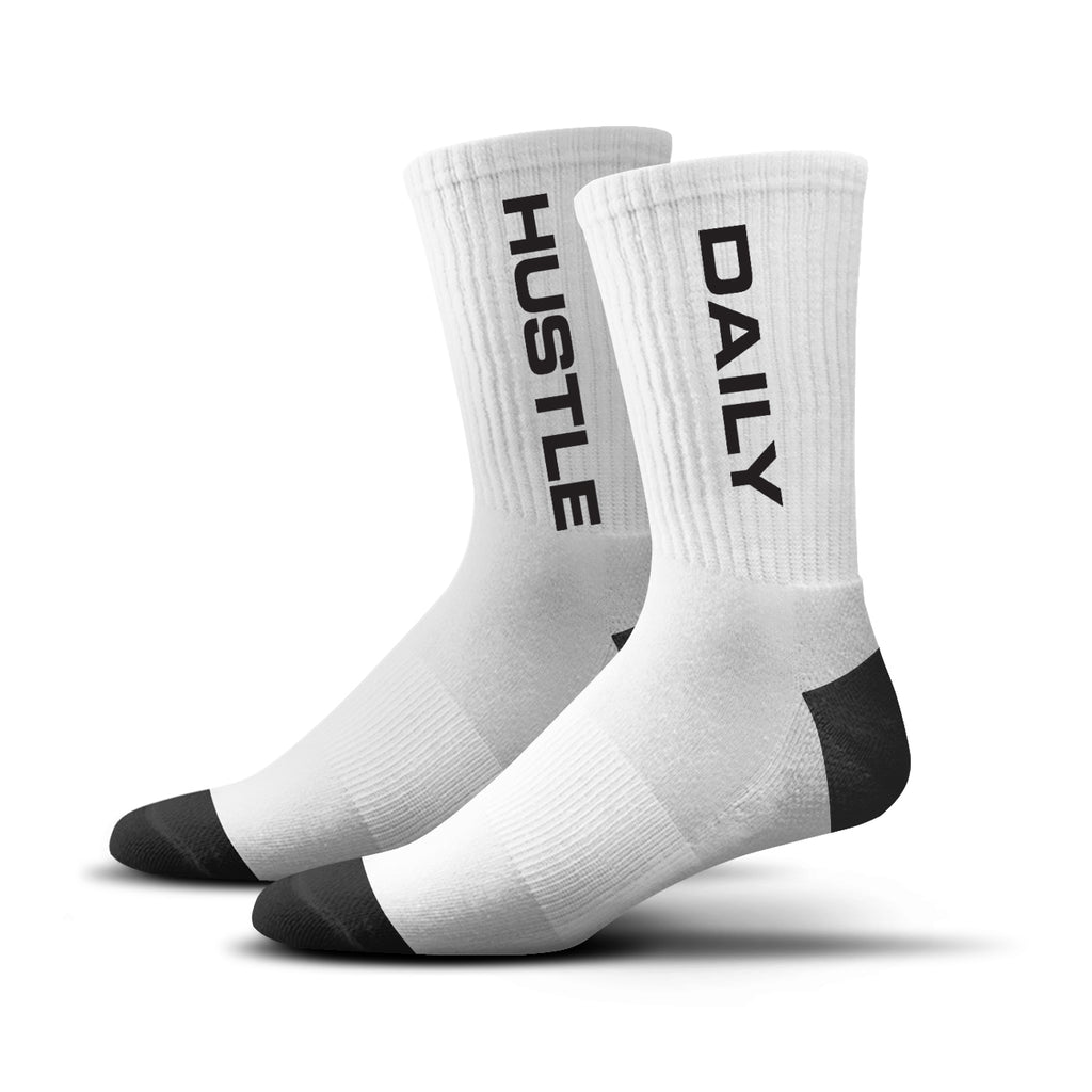Hustle Daily Socks (white)