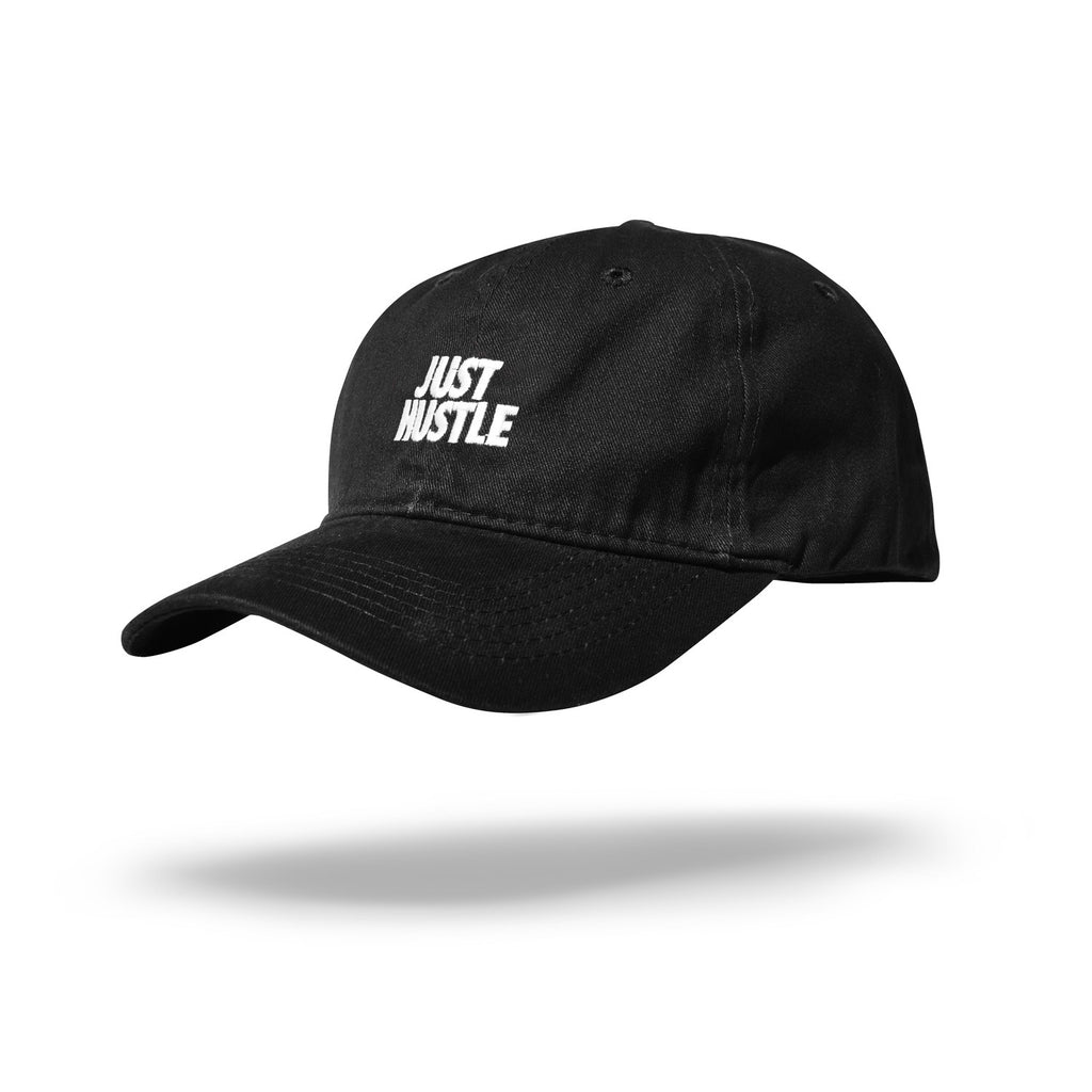 Just Hustle Dad Hat Black