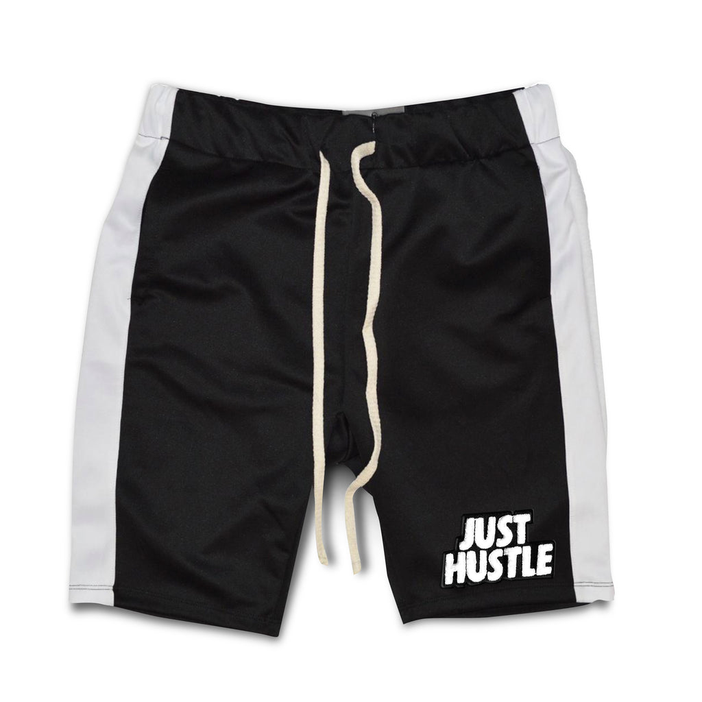 Just Hustle Chenille Patch Shorts