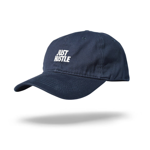 Just Hustle Dad Hat Navy/White