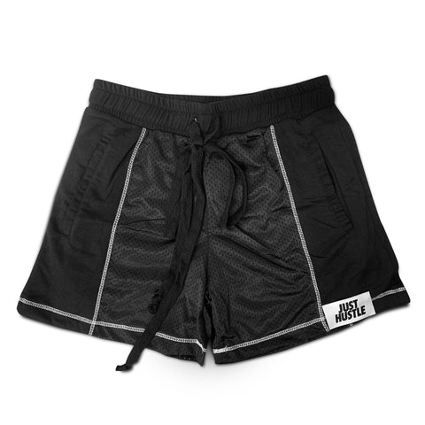 Just Hustle Mesh Panel Shorts