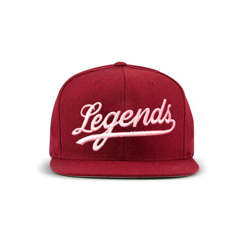 Legends Snapback - burgundy