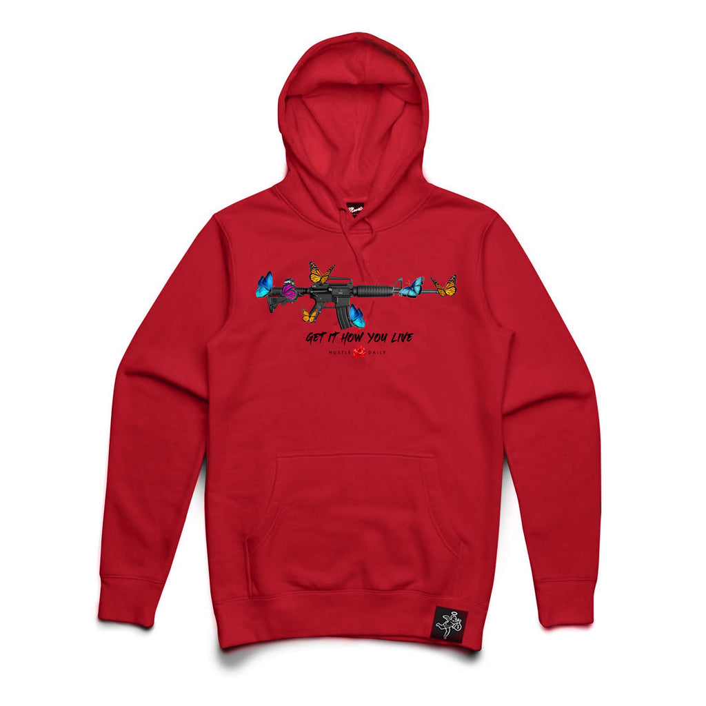 M4 Butterflies Hoodie Big and Tall