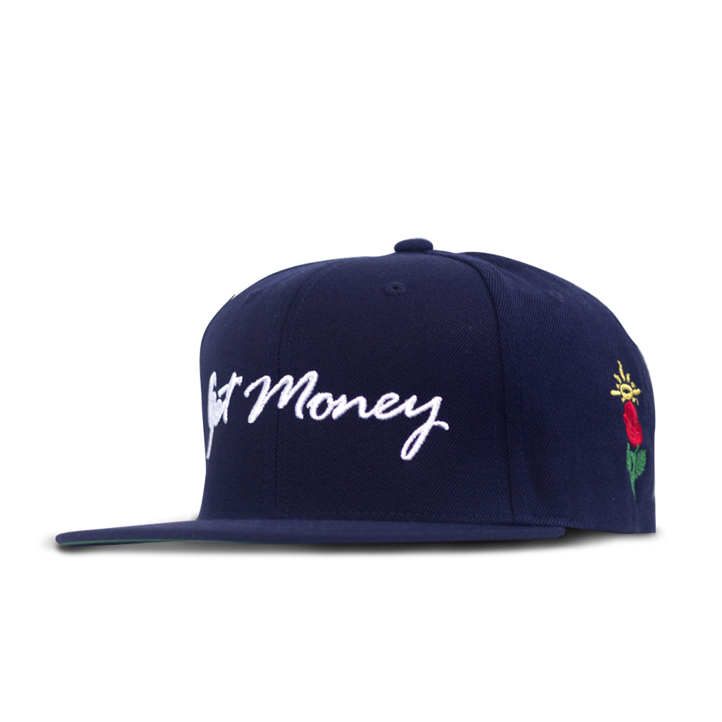 Get Money Rose Snapback Navy