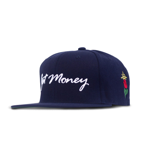 Get Money Rose Snapback -Navy