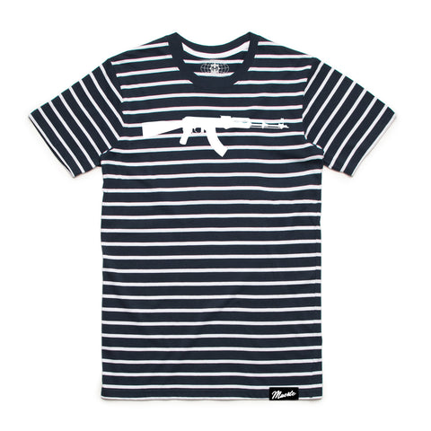 AK Stripe Tee Navy/White