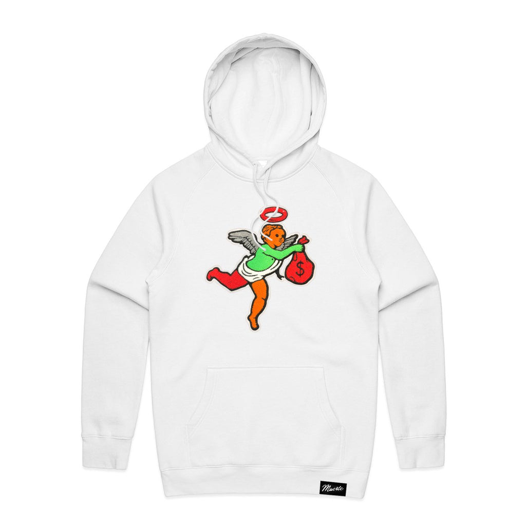 AJ6H Get Money Ski Mask Angel Chenille Patch HOODIE Big and Tall