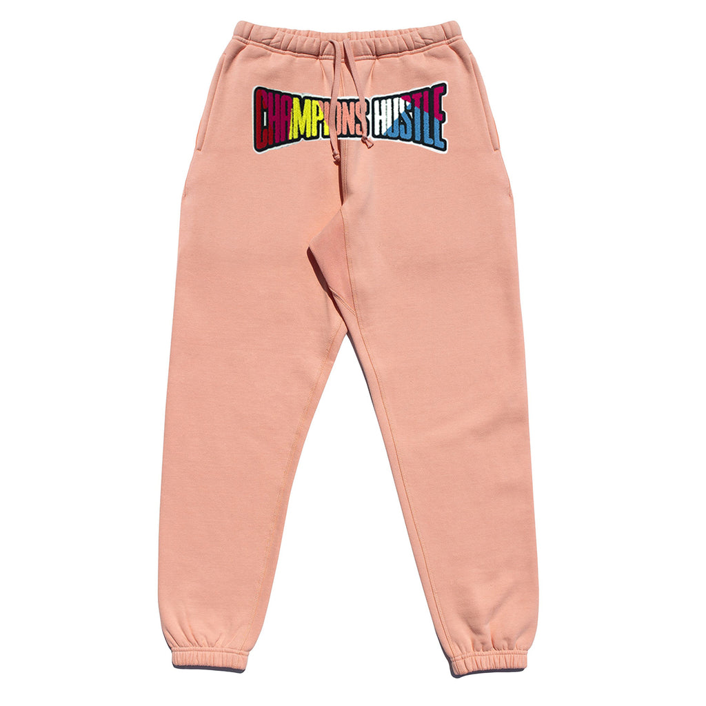 Pink Fleece Champions Hustle Chenille Patch Jogger