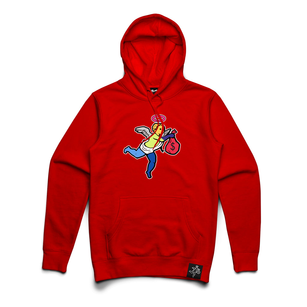 AJ5 WT ANGEL CHENILLE PATCH Hoodie - CLR