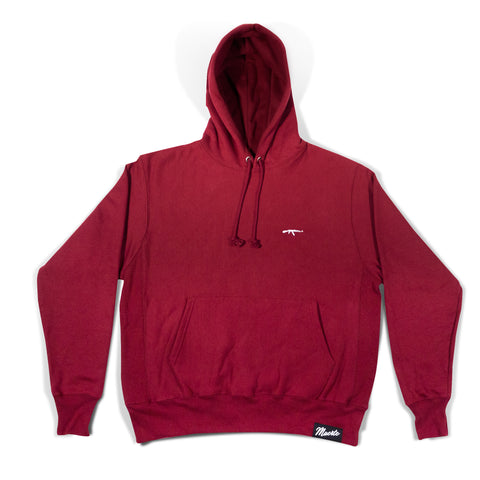 Champion Burgundy AK Logo Embroidered Hoodie