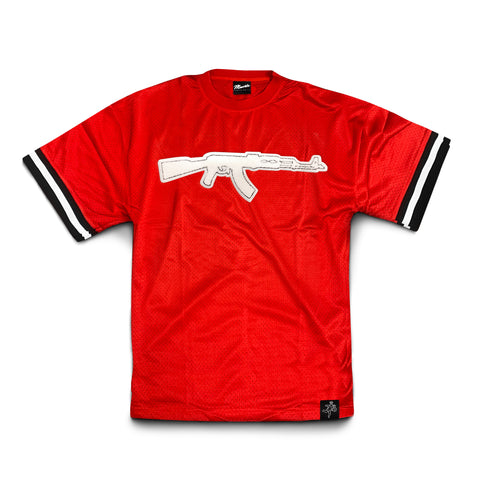 Red Chenille Patch AK Jersey