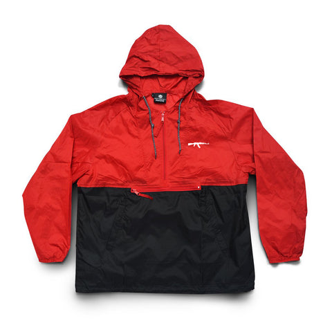 AK Logo Embroidered Windbreaker Red/Black