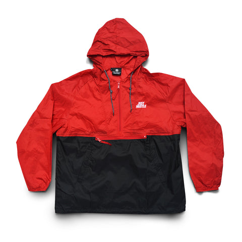 Just Hustle Windbreaker Red/Black