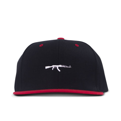 Small Ak Snapback Red and Black
