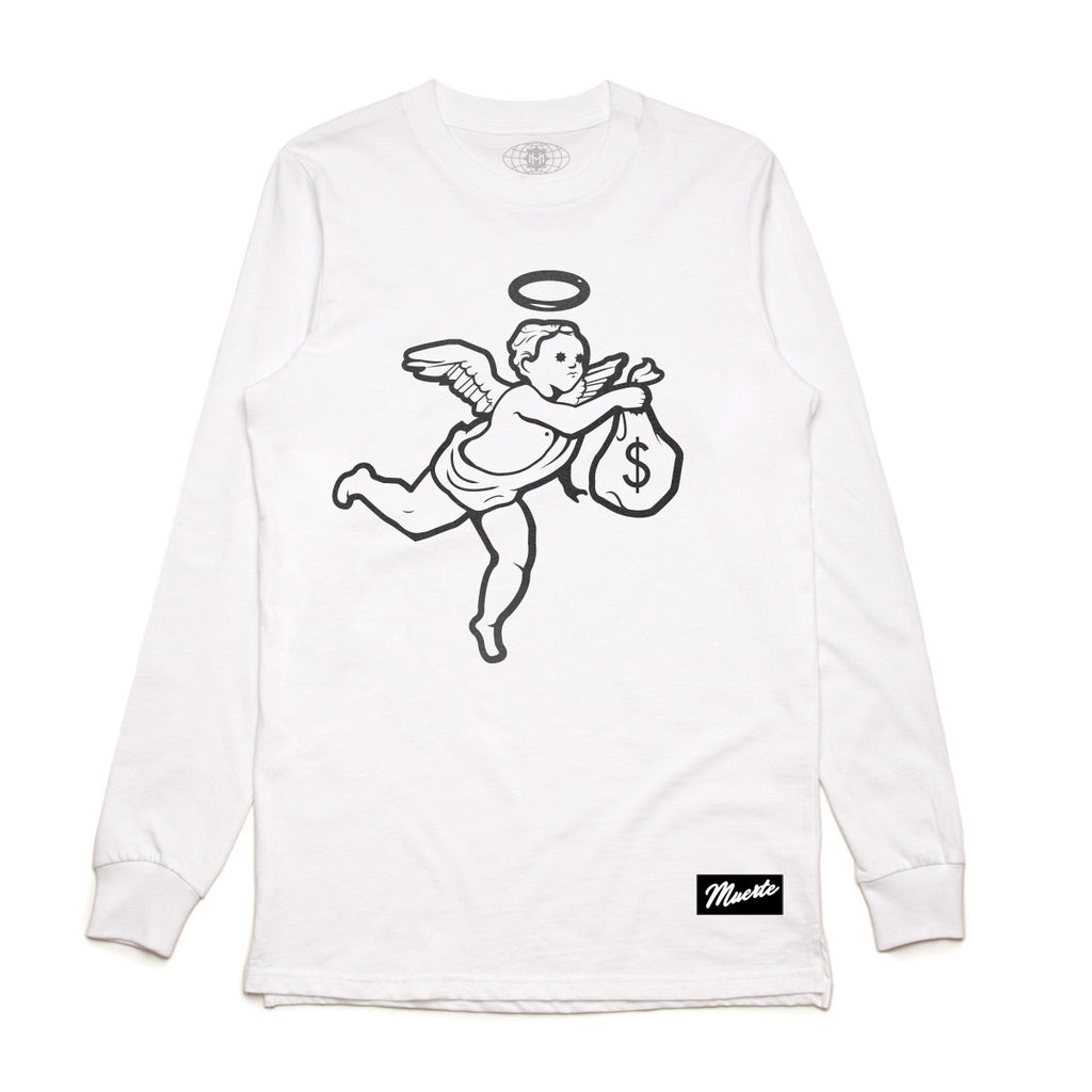 Velvet Flocked Angel Long Sleeve