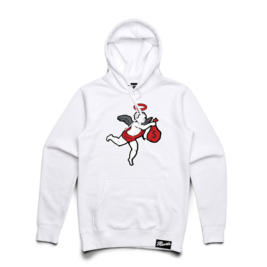 J11 Chenille Patch Angel Hoodie - CLR