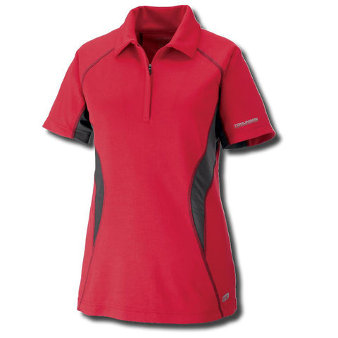 Ladies Performance Zippered Polo